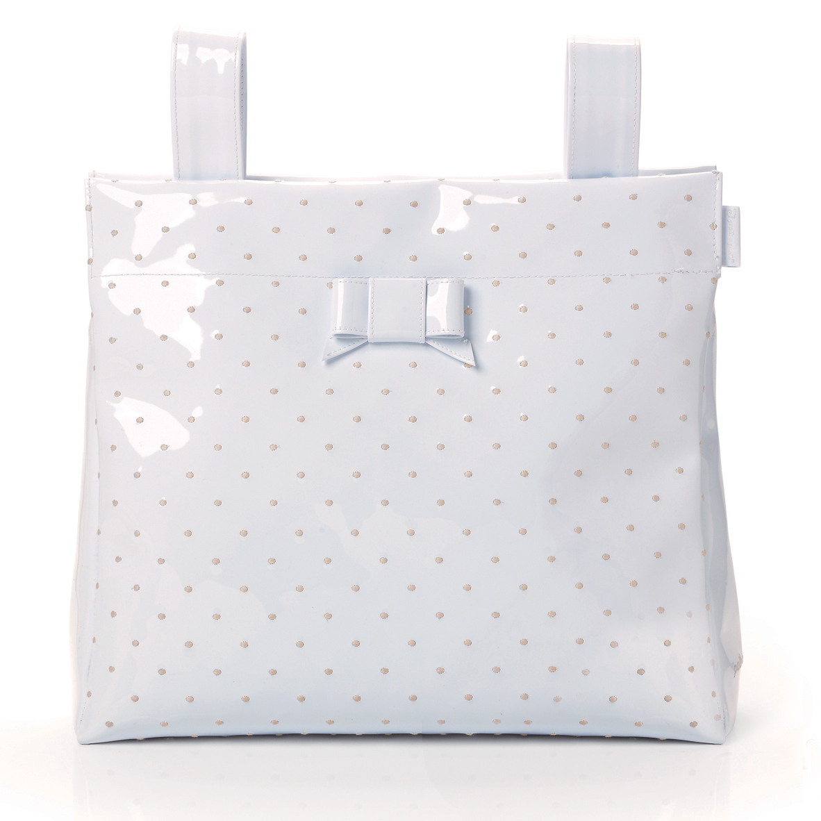 e67af6f014 PASITO A PASITO SMALL CHANGING BAG WHITE LEATHER – EMBROIDERED POLKA ...